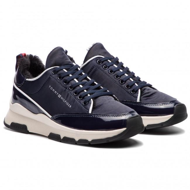 59dd2811d Sneakers TOMMY HILFIGER - Cool Technical Satin Sneaker FW0FW03970 Midnight  403 - Sneakers - Low shoes - Women s shoes - www.efootwear.eu
