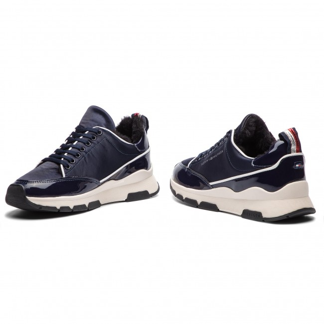 7f76d8ace Sneakers TOMMY HILFIGER - Cool Technical Satin Sneaker FW0FW03970 Midnight  403