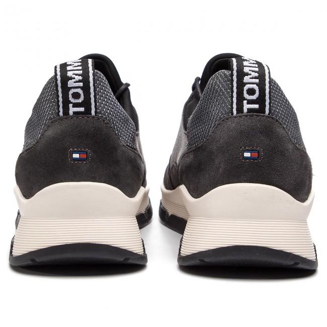 51acf6940630d Sneakers TOMMY HILFIGER - Cool Leather Debossed Sneaker FW0FW04028 Silver  000 - Sneakers - Low shoes - Women s shoes - www.efootwear.eu