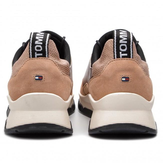 9ad331557a257 Sneakers TOMMY HILFIGER - Cool Leather Debossed Sneaker FW0FW04028 Maquillaje  718 - Sneakers - Low shoes - Women s shoes - www.efootwear.eu