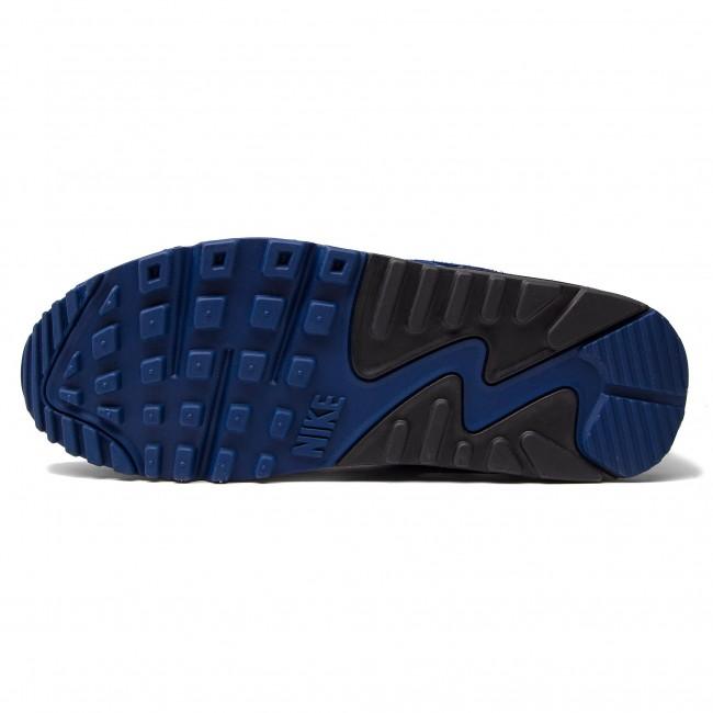 Shoes NIKE Air Max 90 Leather 302519 400 Blue VoidBlackAshen Slate