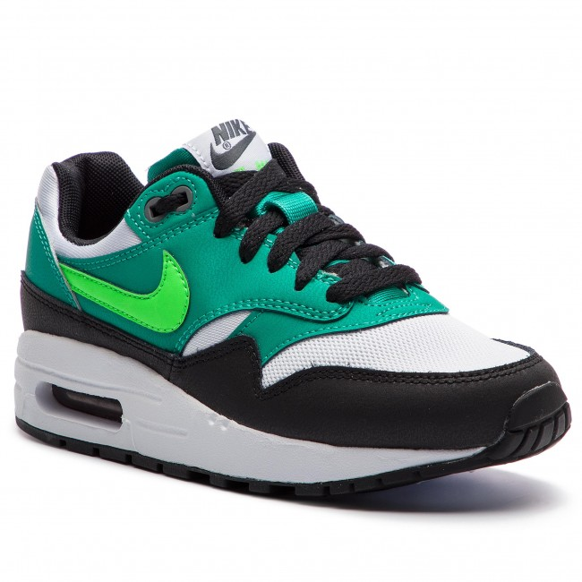 Shoes NIKE - Air Max 1 (GS) 807602 111 White Green Strike - Sneakers ... f083cbe86e7