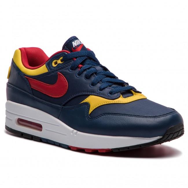 half off 9dd6a cda1c Shoes NIKE. Air Max 1 Premium 875844 403 Navy Gym Red Vivid Sulfur