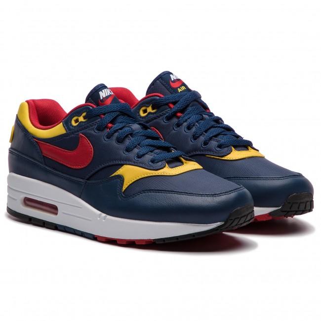 Shoes NIKE - Air Max 1 Premium 875844 403 Navy Gym Red Vivid Sulfur ... 3fb84a1972dc