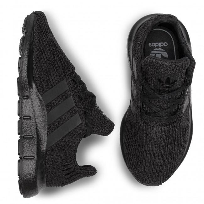 ADIDAS F34321 SWIFT RUN I Inf´s Black//Black Textile Athletic Shoes M