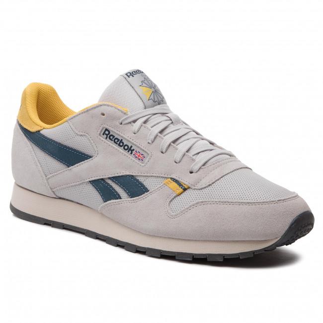 61c833984cb Shoes Reebok - Cl Leather Mu CN7177 Steel Yellow Blue Grey ...