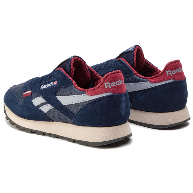 c1912f050168 Shoes Reebok - CL Leather Mu CN7178 Navy Red Stucco Grey - Sneakers ...