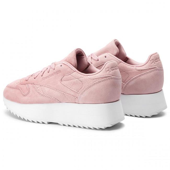 8195e57fb9daa Shoes Reebok - Cl Lthr Double DV3628 Smoky Rose White - Sneakers ...