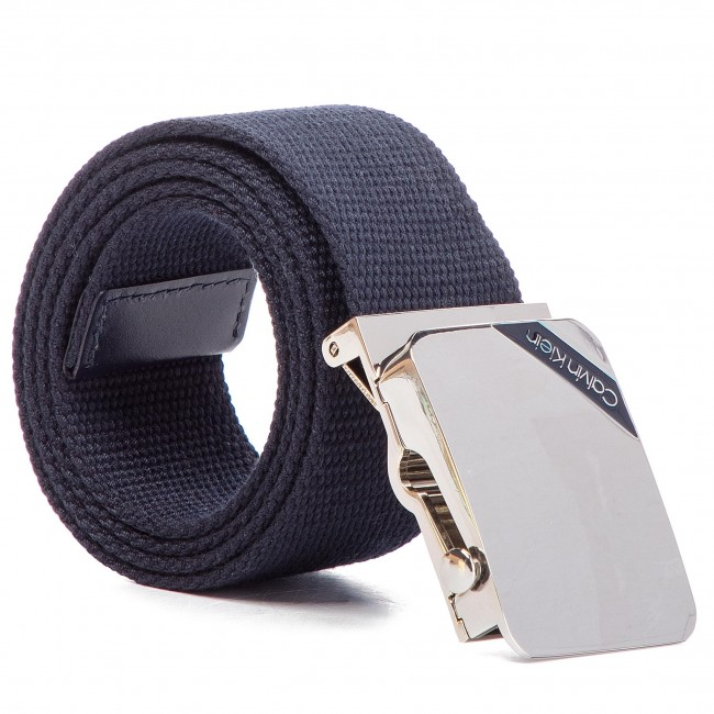 a370a16ad8 Men's Belt CALVIN KLEIN - 4Cm Adj. Webbing Plaque Belt K50K504476 ...