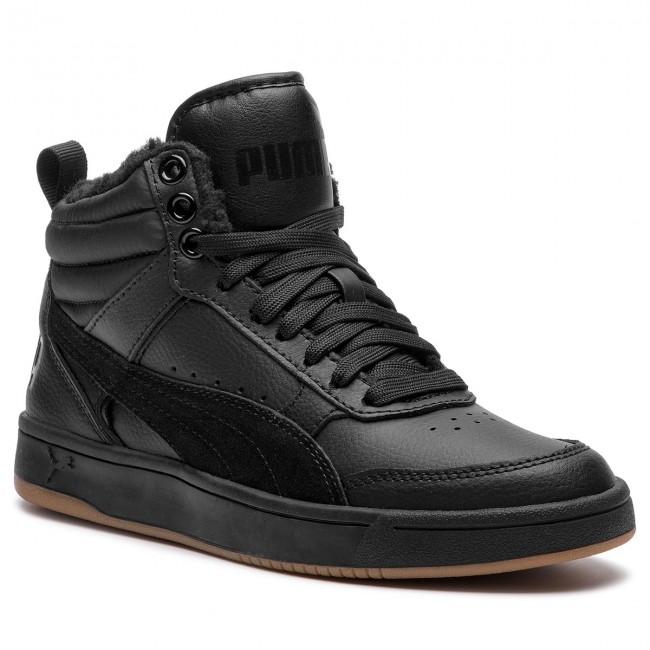 c48ba368bcf Sneakers PUMA - Rebound Street V2 L Fur Jr 368197 01 Black Black Black