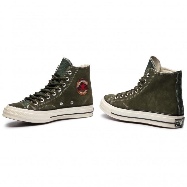 7c8f3b83a443 Sneakers CONVERSE - Chuck 70 Hi 162371C Utility Green Blac ...