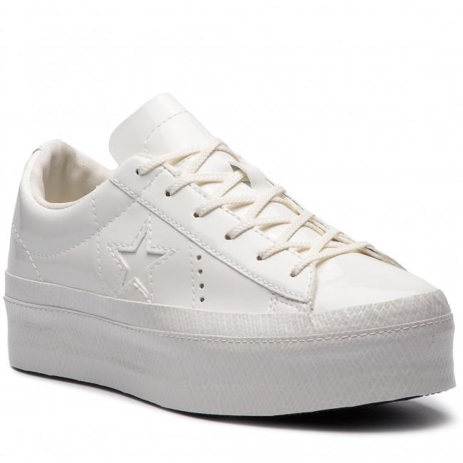 5be62b5a7617 Sneakers CONVERSE - One Star Platform Ox 562605C Vintage White ...