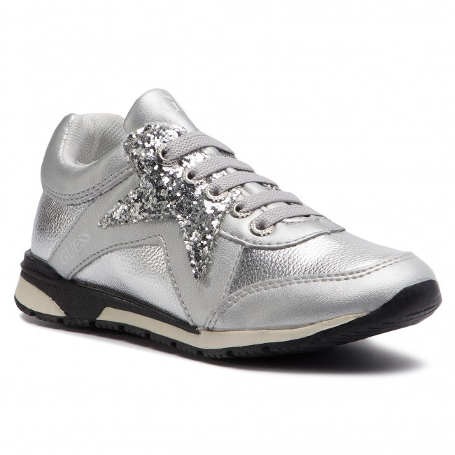 Sneakers GUESS - FI5LIT ELE12 SILVER - Laced shoes - Low shoes ... 2e4fa86cd