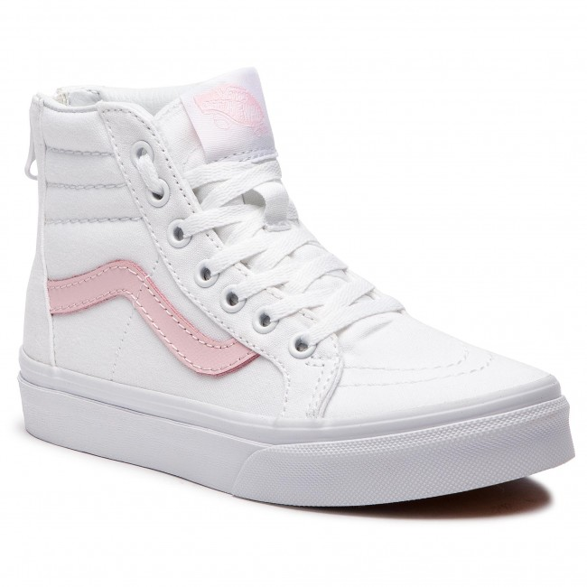 ce1eeb1f82 Sneakers VANS - Sk8-Hi Zip VN0A3276Q7X True White Chalk Pink - Boots ...