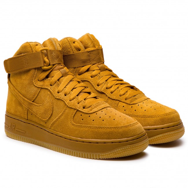 Shoes NIKE Air Force 1 High Lv8 (GS) 807617 701 WheatWheat Gum Light Brown