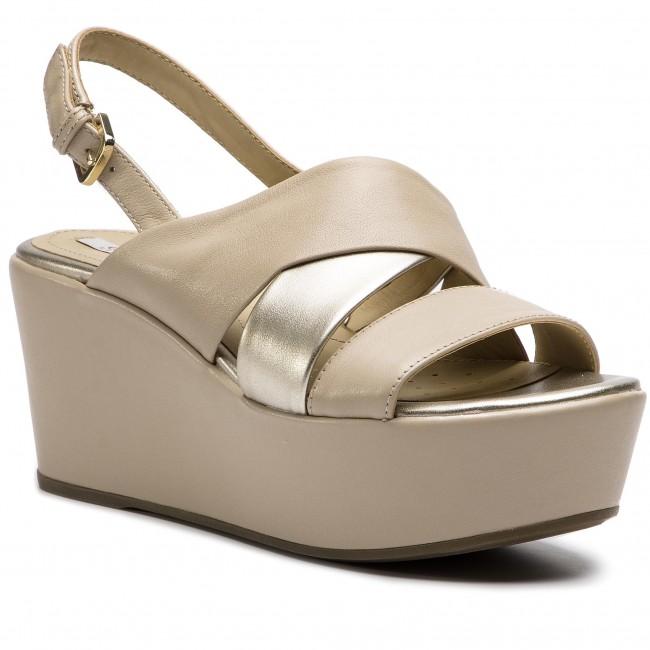 fdf6f6c8aa9e Sandals GEOX - D Sakely B D724VB 085NF CH62L Lt Taupe Lt Gold ...