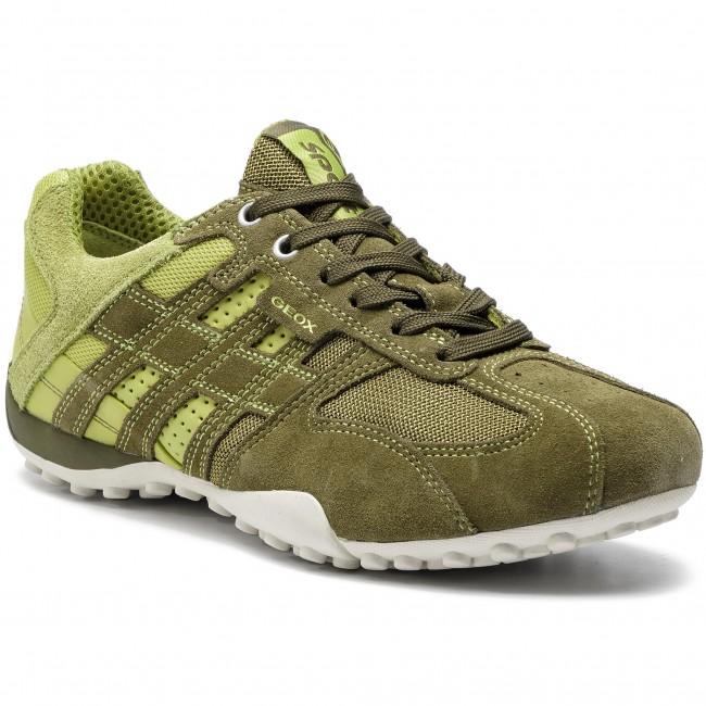Sneakers GEOX U Snake K U4207K 02214 CB33S MuskLime Green Gj5Uj