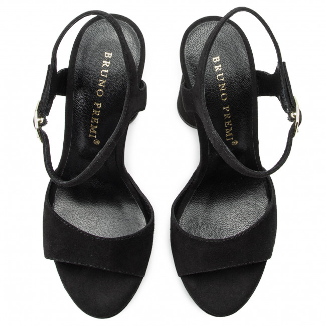 Sandals Premi Nero Camoscio Bruno Bw3602p Nwvn80Om