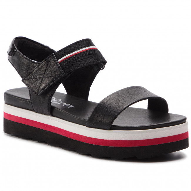 773bccc6c5 Sandals S.OLIVER - 5-28204-22 Black Comb 098 - Wedges - Mules and ...