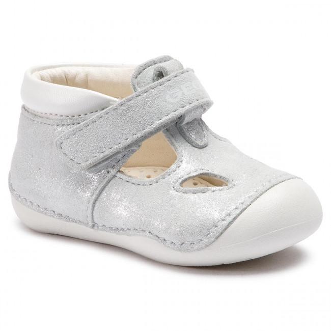 5e9d4d105 Shoes GEOX - B Tutim G. A B9240A 0MANF C0434 M Silver White - Velcro ...