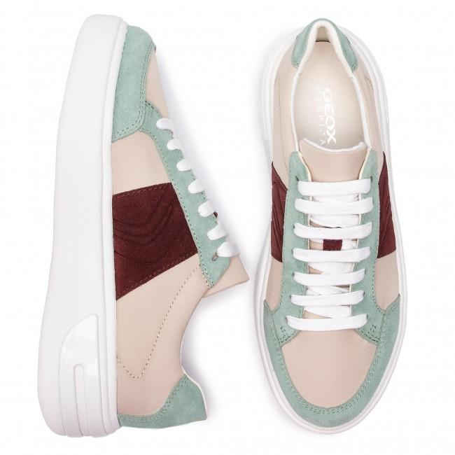 Sneakers GEOX D Ottaya F D92BYF 01122 C5K3U CreamLt Green