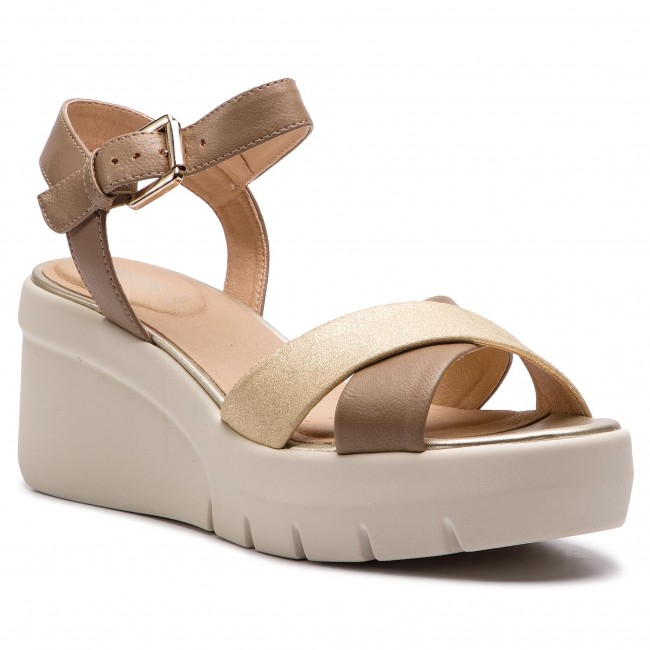 ae0e922a9e4c Sandals GEOX - D Torrence B D92CPB 0BCBN C5258 Sand Lt Gold - Wedges ...