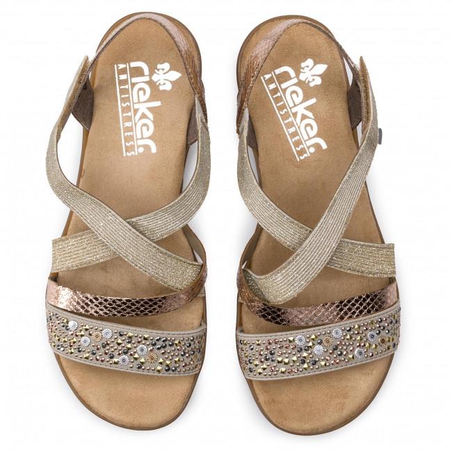 Rieker Ladies Sandal Beige Combination V3463 60