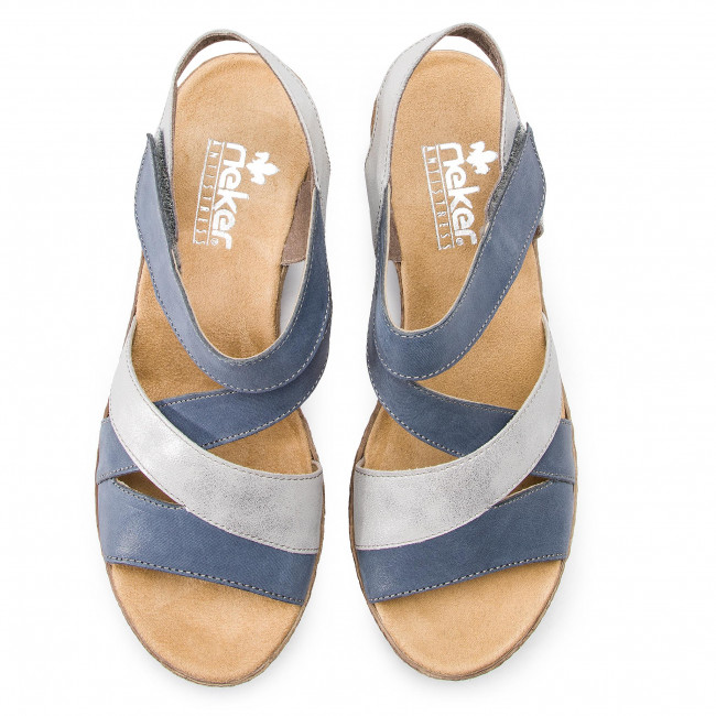 Sandalen RIEKER V2404 12 Blau Kombi