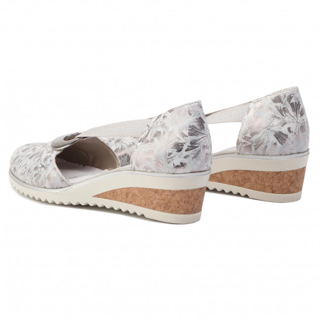 19ce11d94beb19 Shoes REMONTE BY RIEKER - D5502-42 Silber Platin - Wedge-heeled ...