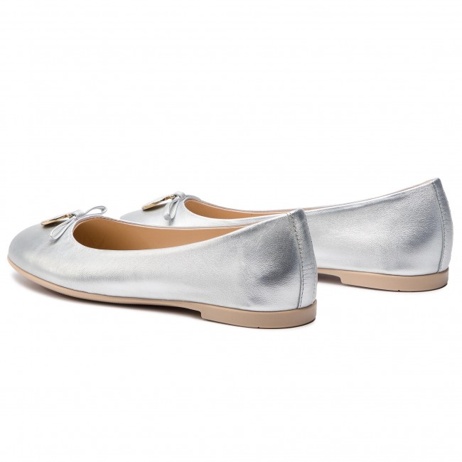 Flats EMPORIO ARMANI - XXD001 XON04 00520 Silver - Ballerina shoes ... c20b90ff460