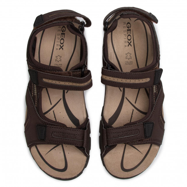 Sandals GEOX U S.Strada D U8224D 050AU C0705 BrownSand s4ptg