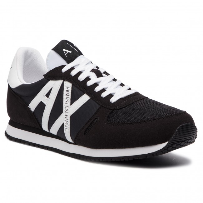 9f86c00c9 Sneakers ARMANI EXCHANGE - XUX017 XV028 00986 Black White - Sneakers ...