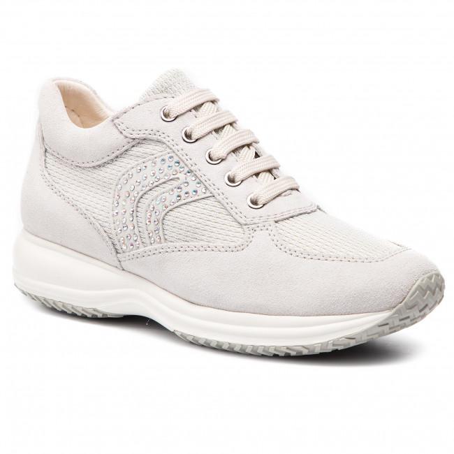 f54f77835172d1 Sneakers GEOX - D Happy C D5462C 022LY C0626 Off White/Silver ...