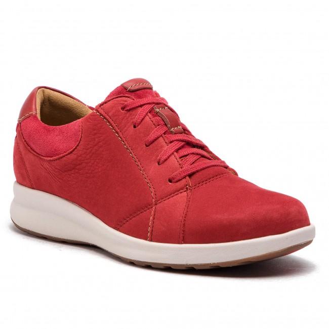 d08eaa58 Shoes CLARKS - Un Adorn Lace 261370254 Red Combi - Flats - Low shoes ...