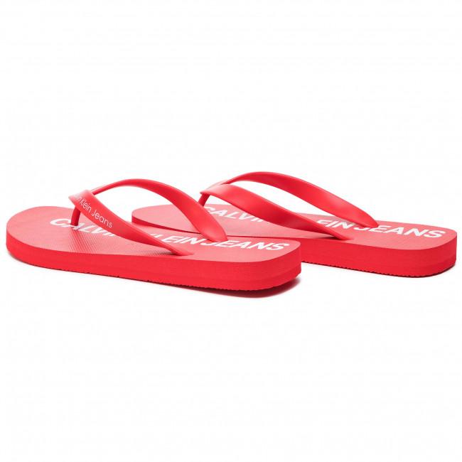 bba708b49cfc Slides CALVIN KLEIN JEANS - Errol Jelly S0604 Tomato - Flip-flops ...