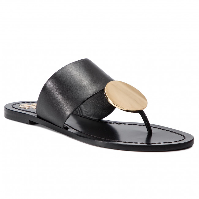 f11487125 Slides TORY BURCH - Patos Disk Sandal 46914 Perfect Black  Gold 013 ...