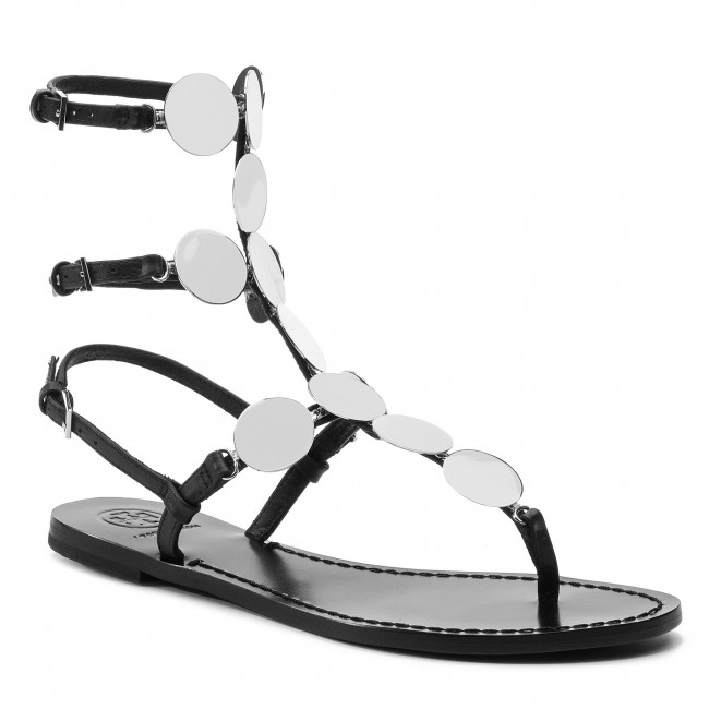 06bcd5118e0 Sandals TORY BURCH - Patos Disk Gladiator 53690 Perfect Black Silver ...