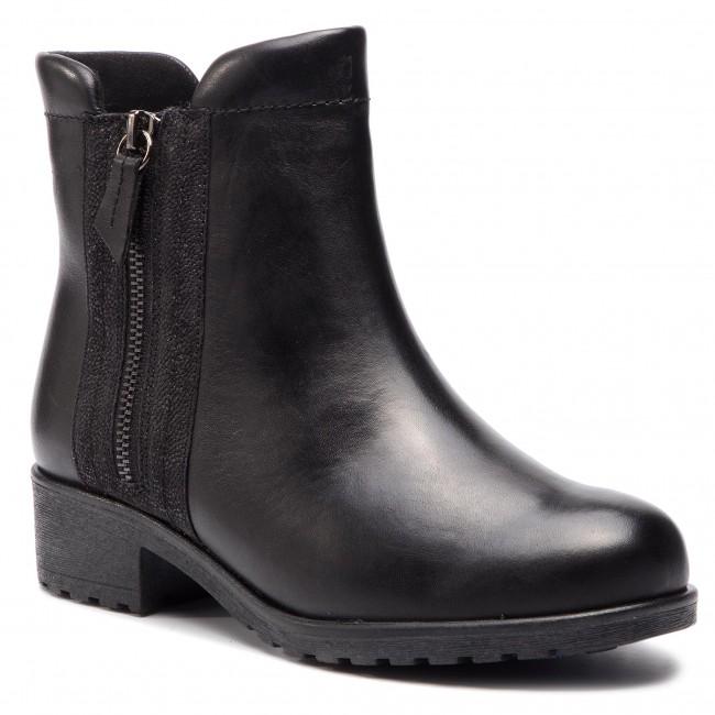 Boots CAPRICE - 9-26416-21 Blk Nappa Comb 026 - Boots - High boots ... 90d37750610df