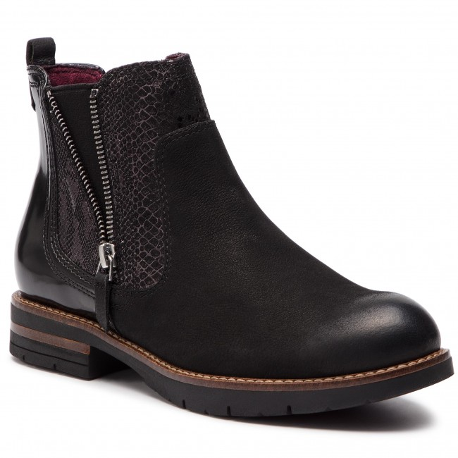 1e3f2cff8ce1 Ankle Boots TAMARIS - 1-25426-21 Black Comb 098 - Boots - High boots ...