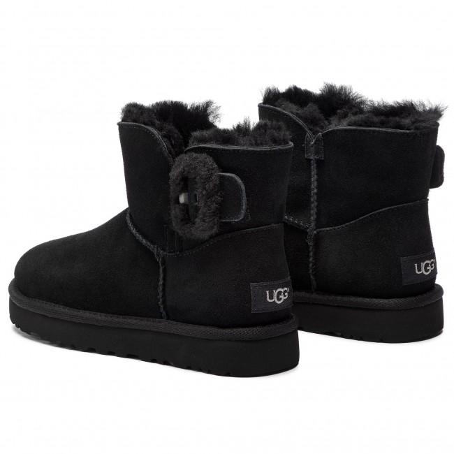 Shoes UGG - W Mini Bailey Fluff Buckle 1104182 W Blk - UGG - High ... 5fddc12c354