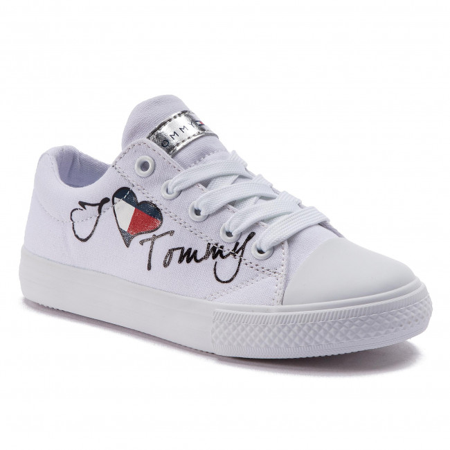 b1f085114 Sneakers TOMMY HILFIGER - Low Cut Lace-Up Sneaker White M T3A4-30260 ...