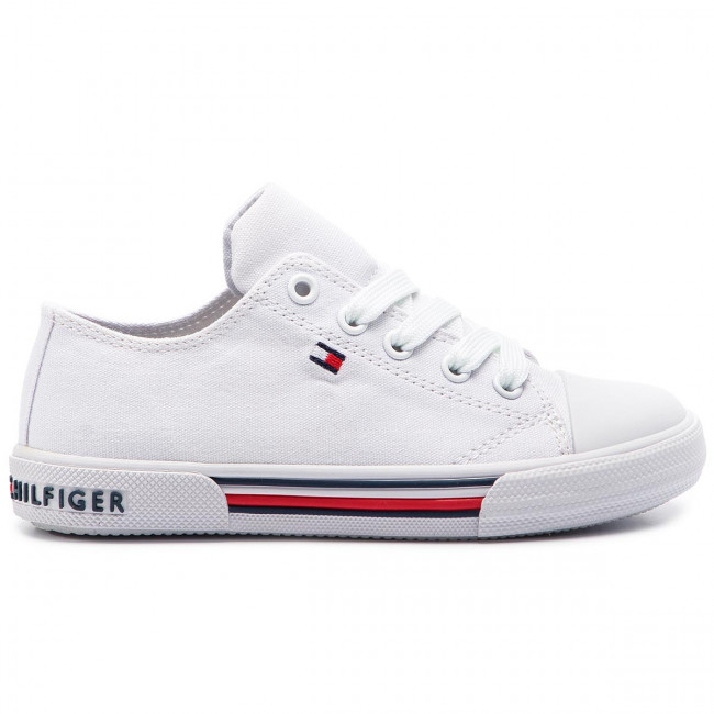 9e92d2c3df082 Sneakers TOMMY HILFIGER - Low Cut Lace-Up Sneaker T3X4-30278-0034 M ...