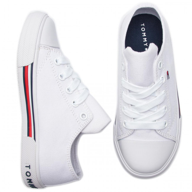 08ebb9ce9e451 Sneakers TOMMY HILFIGER - Low Cut Lace-Up Sneaker T3X4-30278-0034 M White  100 - Laced shoes - Low shoes - Girl - Kids' shoes - www.efootwear.eu