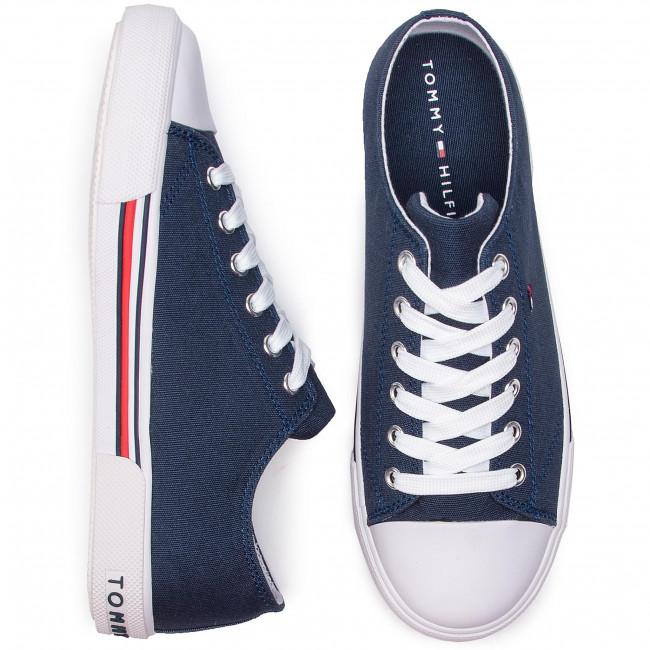 4990777f2d44a Sneakers TOMMY HILFIGER - Low Cut Lace-Up Sneaker T3X4-30278-0034 D Blue  800 - Laced shoes - Low shoes - Girl - Kids' shoes - www.efootwear.eu