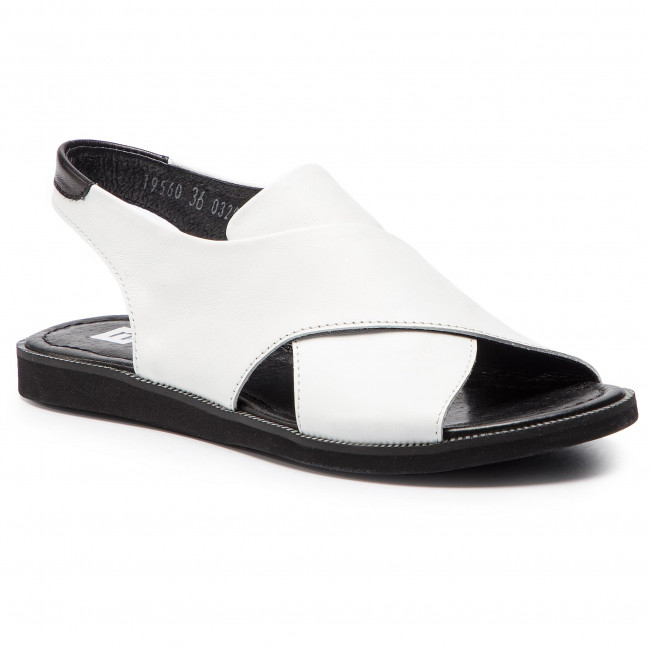9dcefd733f012 Sandals NESSI - 19560 White - Casual sandals - Sandals - Mules and ...