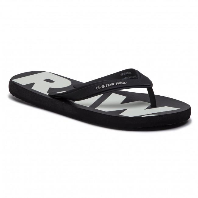 0878edef098 Slides G-STAR RAW - Dend D14912-3593-964 Black White - Flip-flops ...