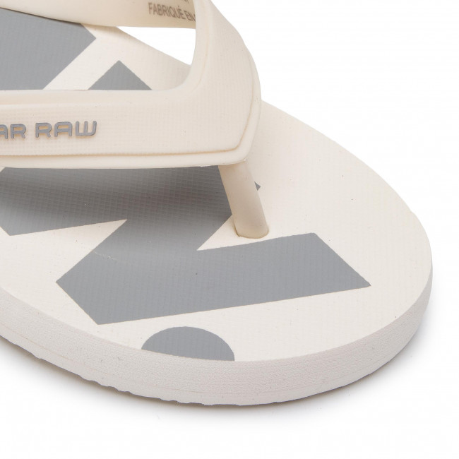 91d81404714f Slides G-STAR RAW - Dend D14914-3593-A539 White Industrial Grey -  Flip-flops - Mules and sandals - Women s shoes - www.efootwear.eu