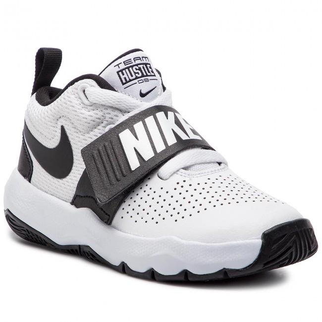 bd38026b82b2fc Shoes NIKE - Team Hustle D 8 (PS) 881942 100 White Black - Laced ...
