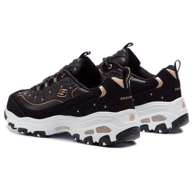 eb7a75f85d3ef Sneakers SKECHERS - D lites Glamour Feels 13087 BKRG Black Rose Gold ...