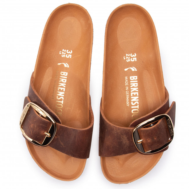 02e7d93d6eb Slides BIRKENSTOCK - Madrid Big Buckle 1006525 Cognac - Casual mules - Mules  - Mules and sandals - Women s shoes - www.efootwear.eu